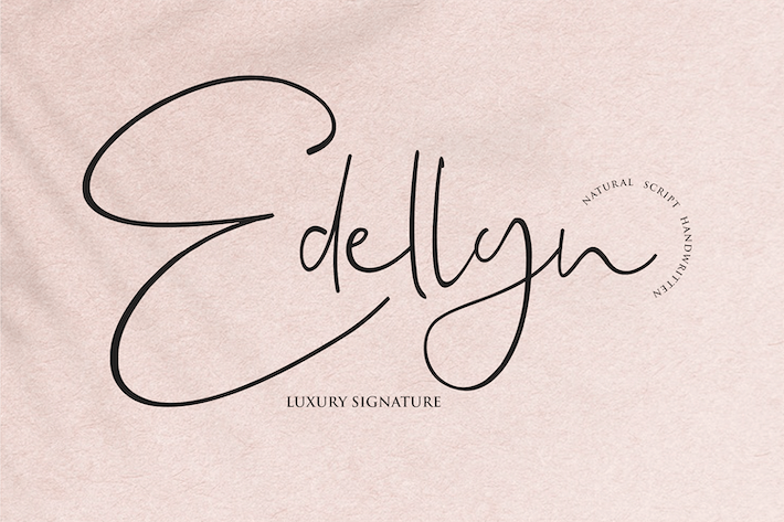 Thumbnail for Edellyn - Signature Font