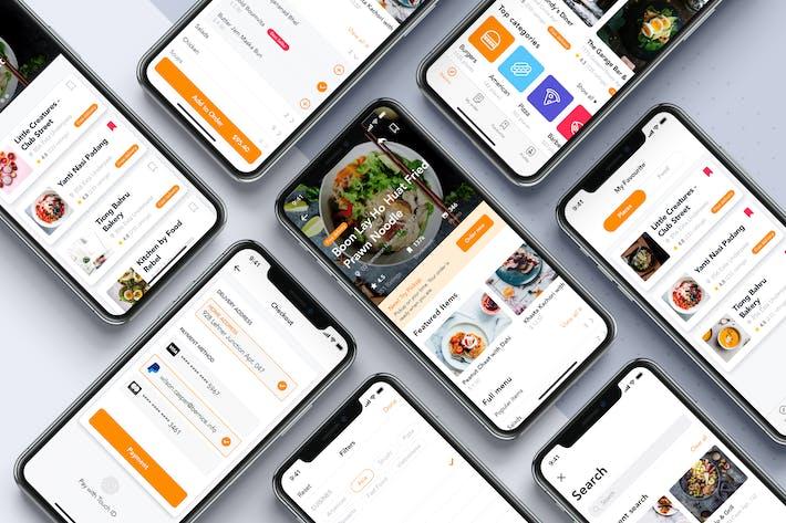 Thumbnail for Food Order Mobile App UI Kit