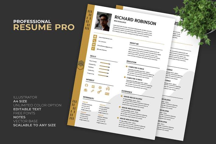 Thumbnail for Creative Resume / CV Template Pro