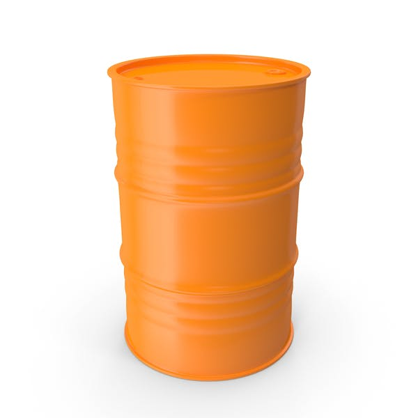 Barril de metal limpio naranja