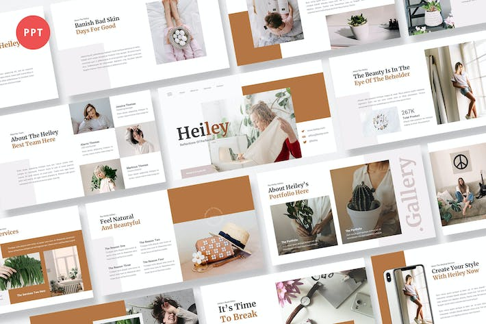 Thumbnail for Heiley Creative Business Powerpoint Шаблон
