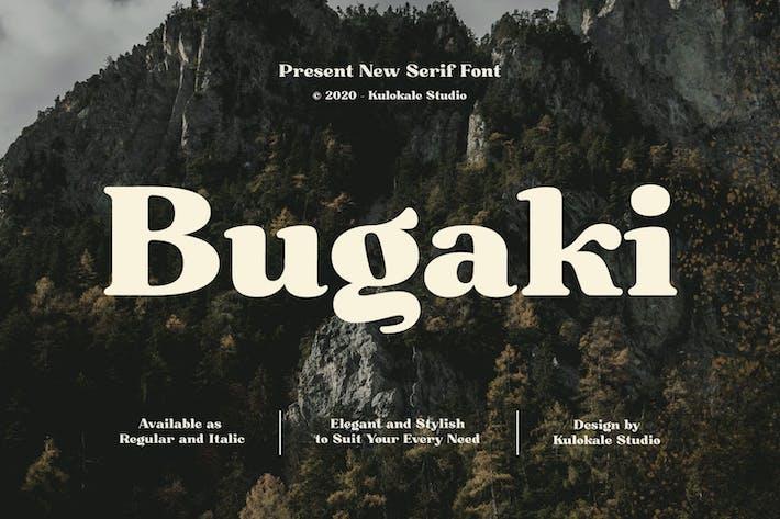 Thumbnail for Bugaki - Police de serif élégante