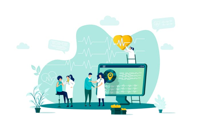 Thumbnail for Medicine Flat Concept Vector Illustration