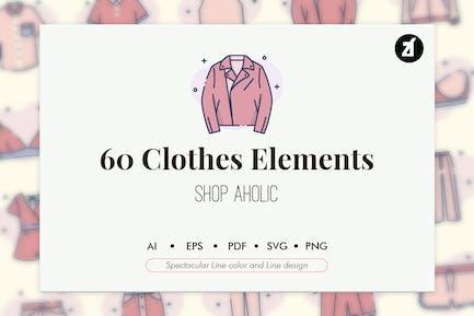 60 Elementos de ropa
