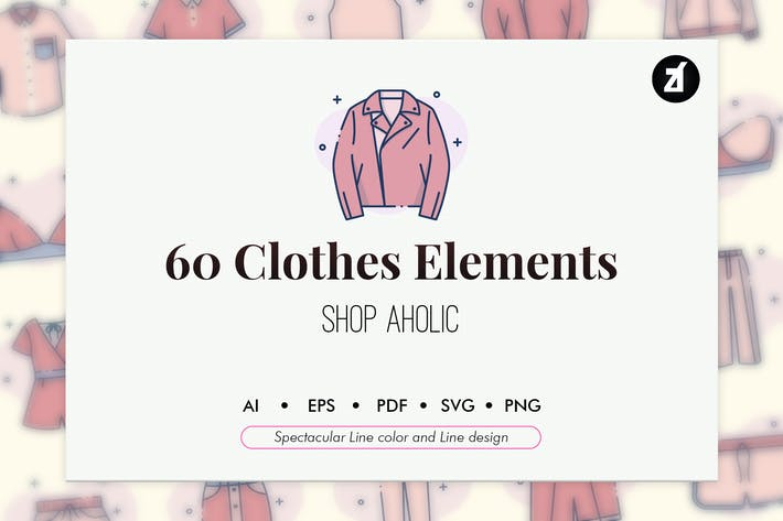 Thumbnail for 60 Clothes elements