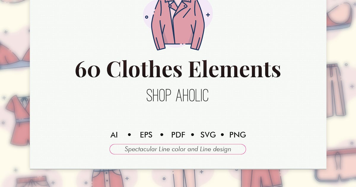 Download 60 Clothes elements by Chanut_industries