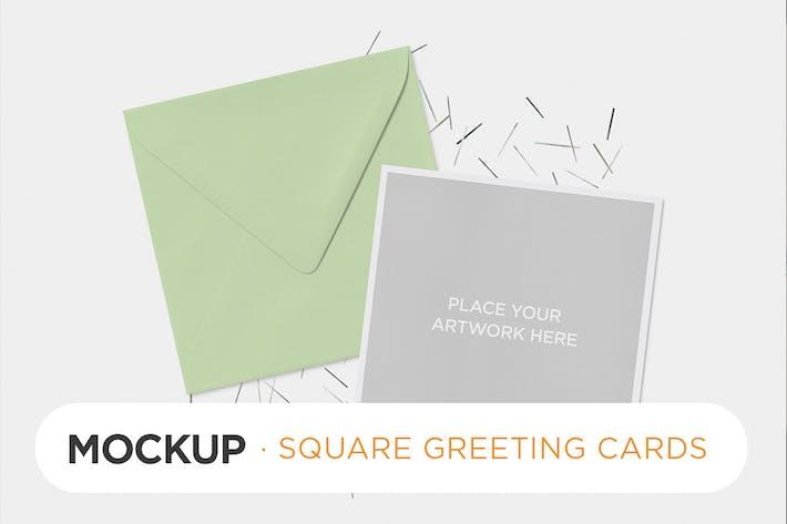 Thumbnail for Quadratische Einladungskarte Mock-ups