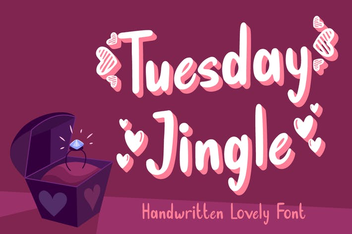 Thumbnail for Martes Jingle - Lovely Font