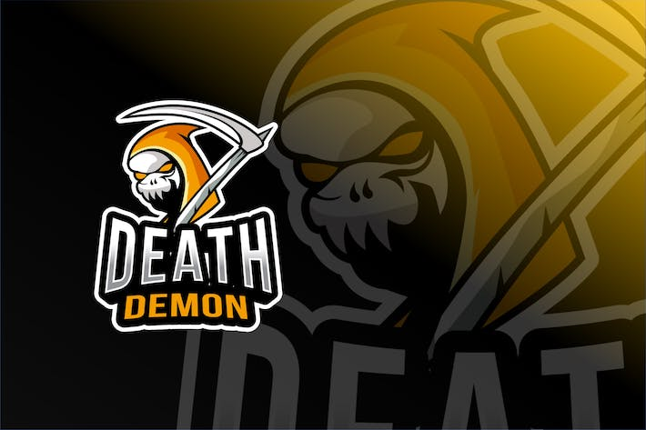 Thumbnail for Death Demon Esport Logo Template
