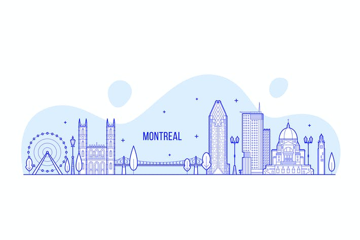 Thumbnail for Montreal skyline, Canada