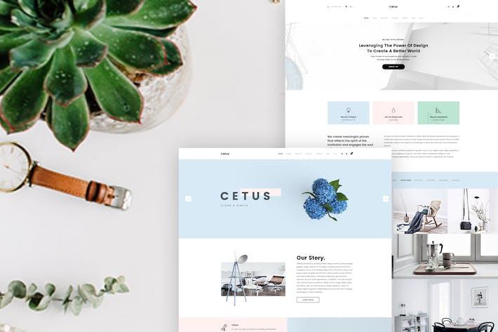 Thumbnail for Cetus - Creative Portfolio Psd Template