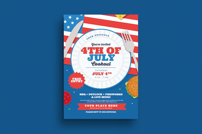 4th Of July Cookout Flyer