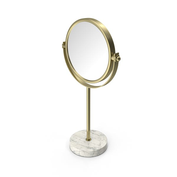 Gold Marble Stand Up Mirror
