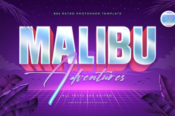 Malibu - 80s Retro Logo Mockup