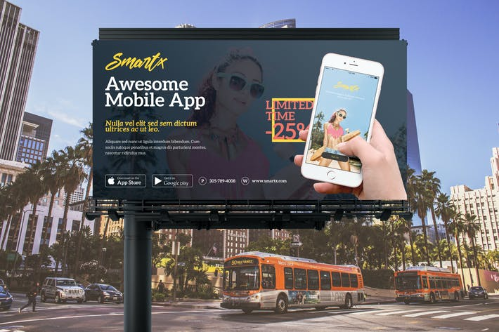 Mobile App Billboard Banner Template