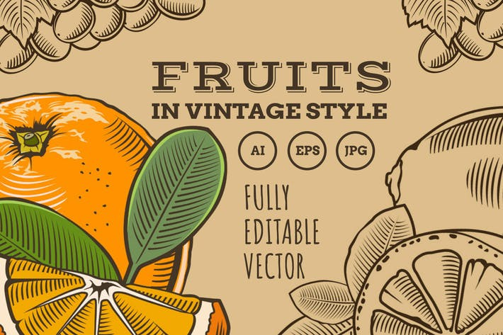 Thumbnail for Fruits dans le style vintage