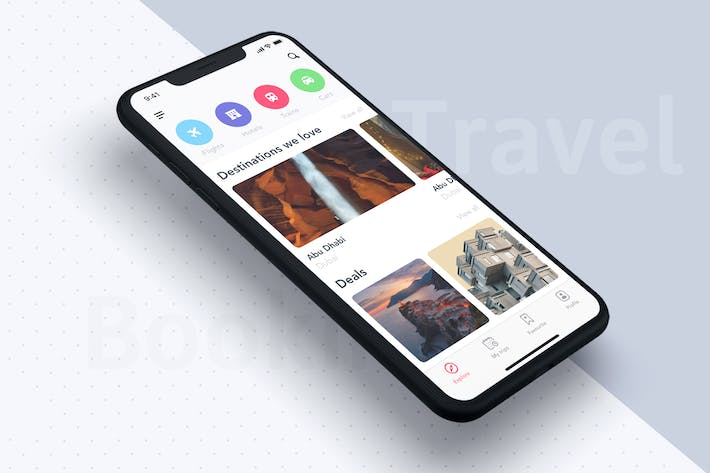 Thumbnail for Home UI Concept for Travel App
