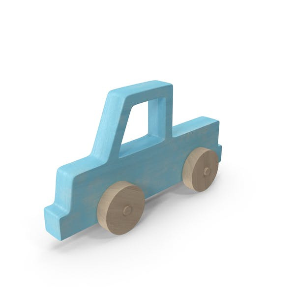 Baby Wooden Car Blue