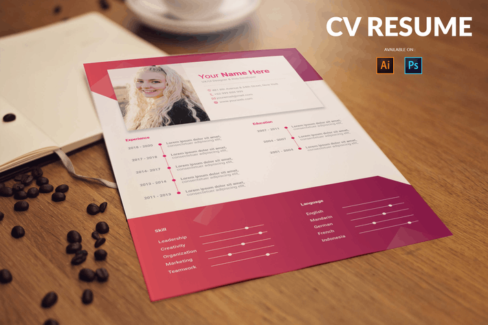 Thumbnail for CV Resume Bold