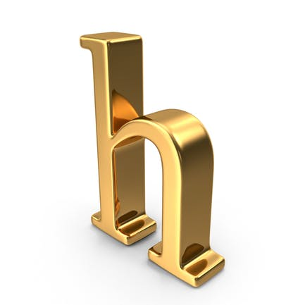 Gold Small Letter H