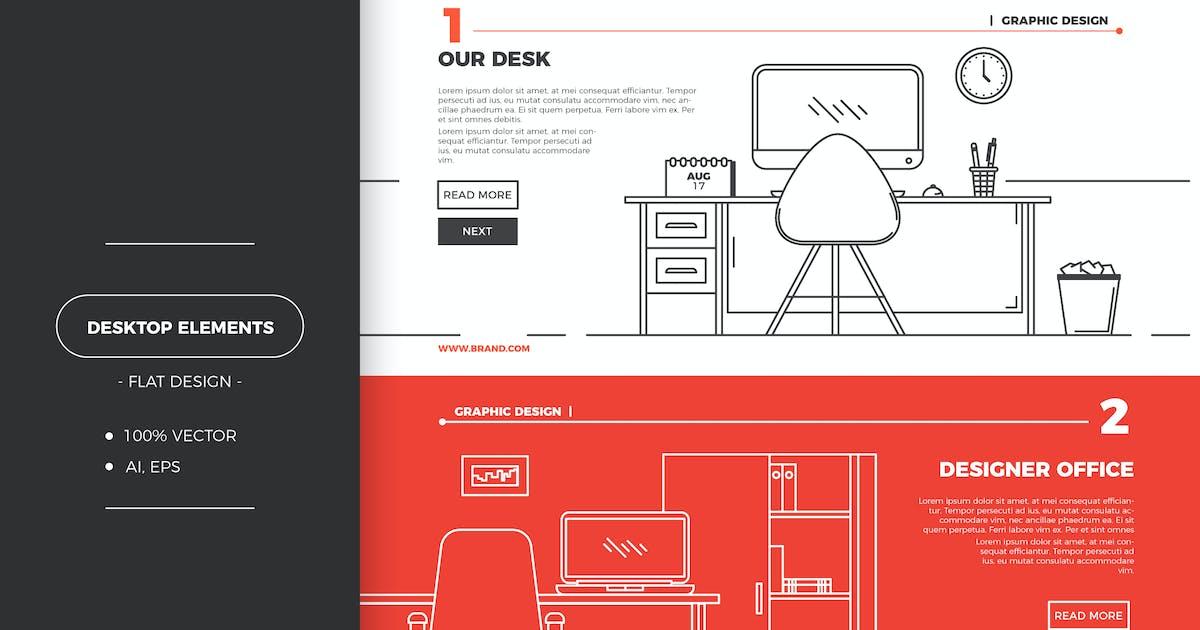 Download Flat office workspace by EightonesixStudios