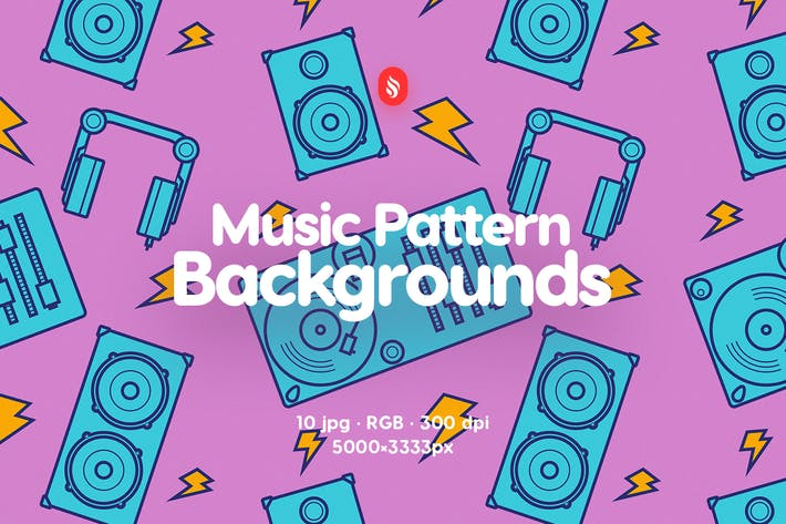 Thumbnail for Music Pattern Backgrounds