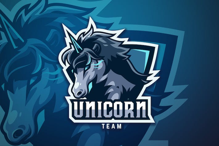 Thumbnail for Unicorn Sport And Esport Logo Vector Template