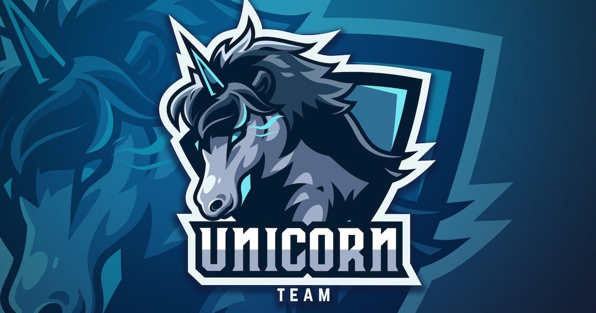 Download Unicorn Sport And Esport Logo Vector Template by naulicrea