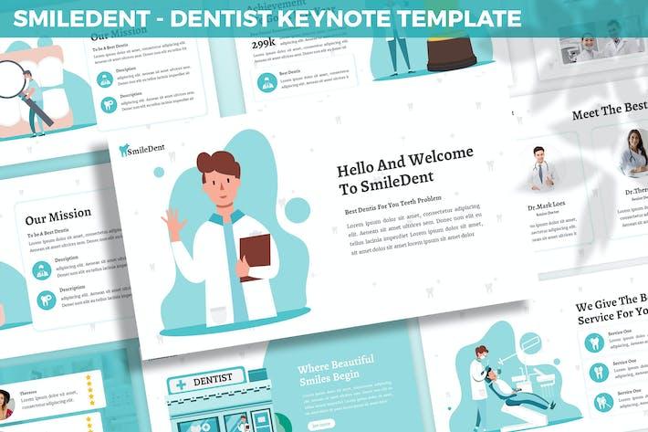 Thumbnail for Шаблон ключевых поKeynote SmileDent — Стоматолог