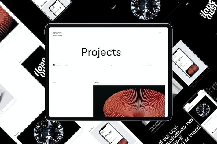 Delia   Modèle HTML Pour Freelancer