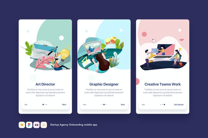 Thumbnail for Startup Onboarding mobile app