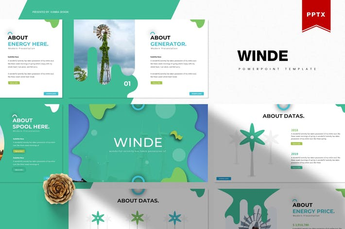 Thumbnail for Winde | Powerpoint Template