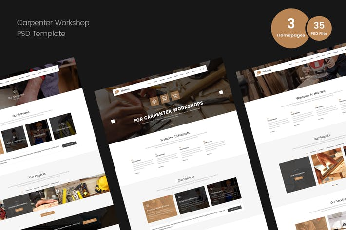 Cover Image For Carpenter PSD Template