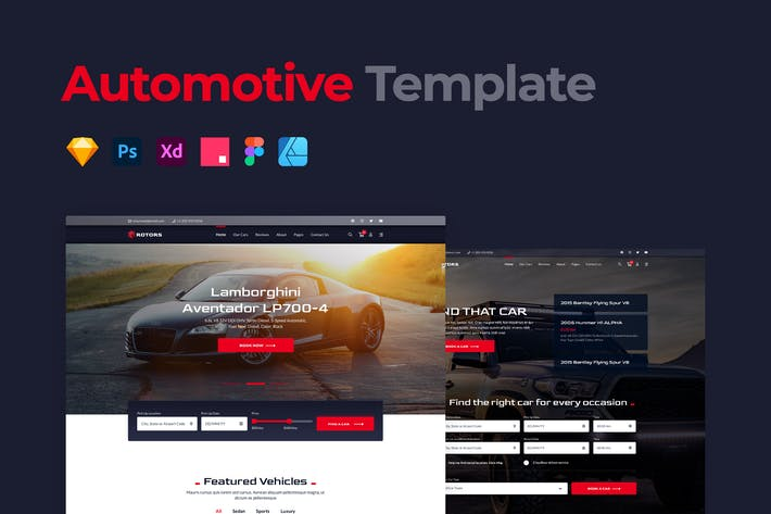 Thumbnail for Car Rental Website Template