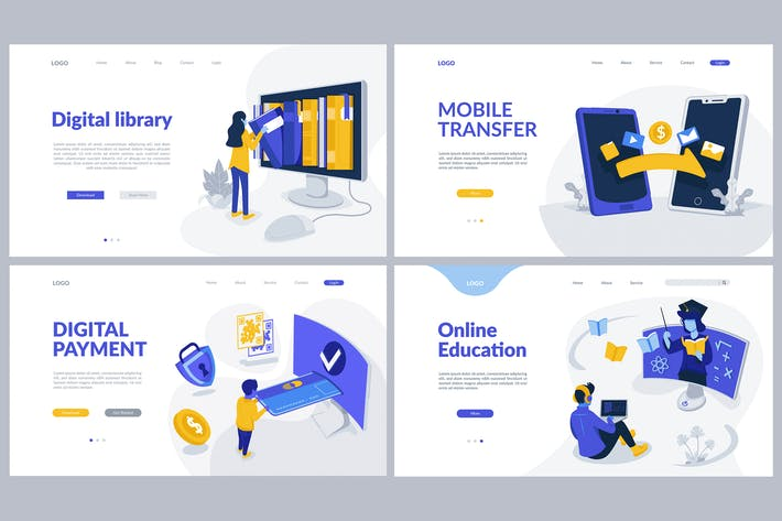 Thumbnail for Digital Service Theme - Landing Pages