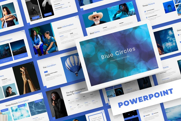 Thumbnail for Blue Circle - Powerpoint Template