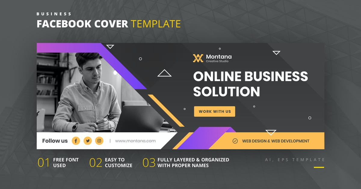 Download Business Facebook Cover Template by youwes