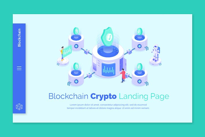 Thumbnail for Blockchain - Creative Banner Zielseite