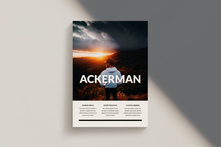 Thumbnail for Ackerman - Magazine Template Indesign