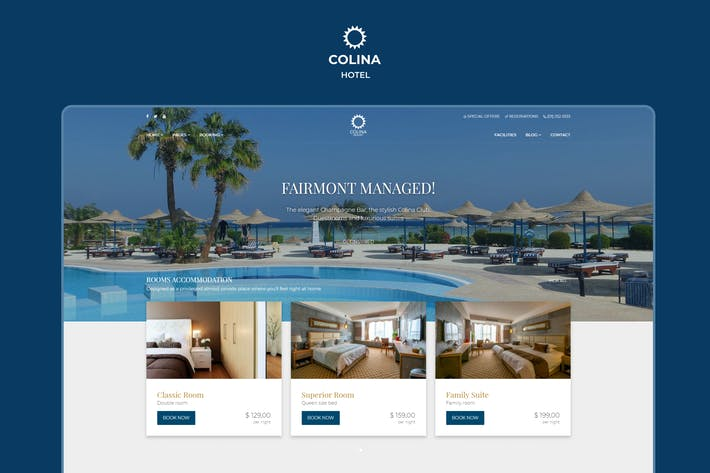 Thumbnail for Colina - Hotel HTML Template