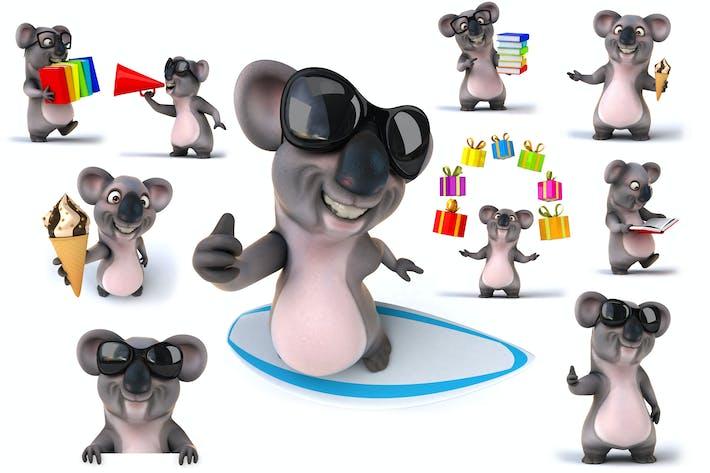 Thumbnail for 10 fun cartoon Koalas !