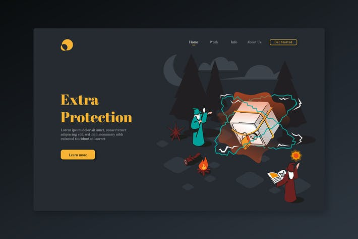 Extra Protection - Isometric Landing Page