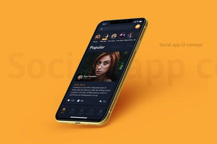 Feed Screen - Social mobile UI Concept