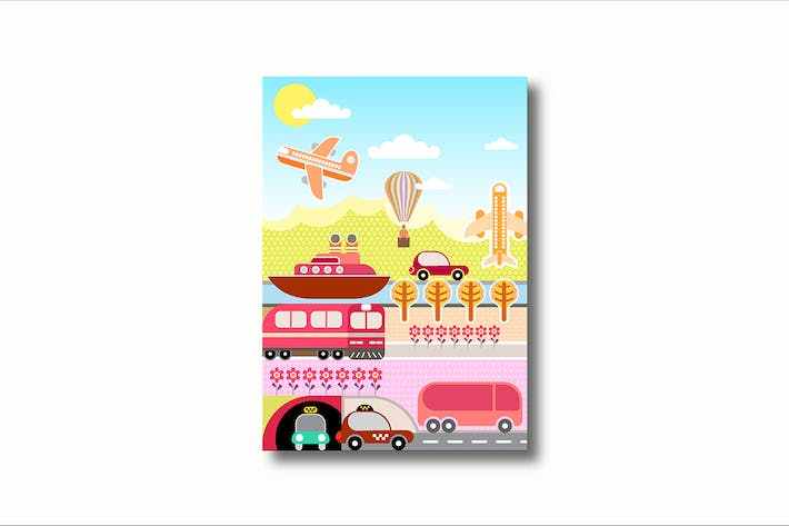 Thumbnail for Transport and Travel vector illustration