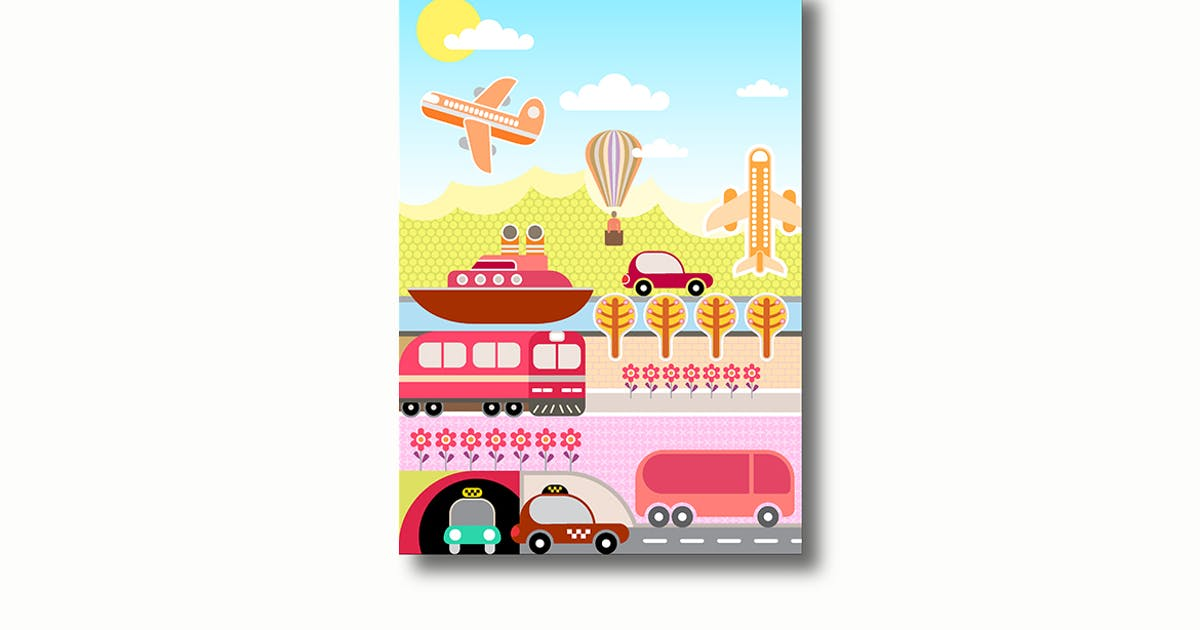 Download Transport and Travel vector illustration by danjazzia