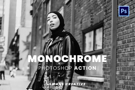 Monochrome Photoshop Action