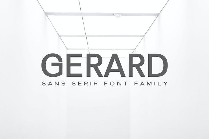 Cover Image For Gerard Sans Serif Font Family