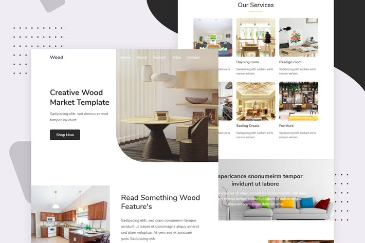 Thumbnail for Wood Market - Email Newsletter