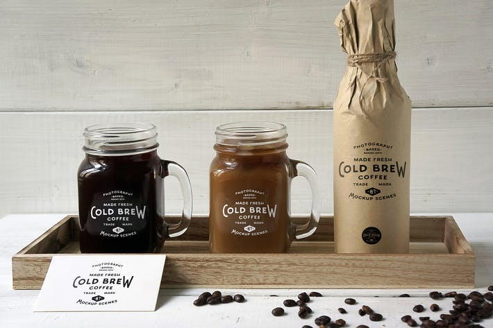 Thumbnail for Cold Brew Coffee Mockup
