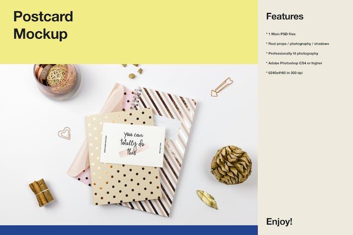 Thumbnail for Postcard Mockup - Glamour Scene
